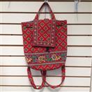 VERA BRADLEY Handbag VILLA RED BACKPACK